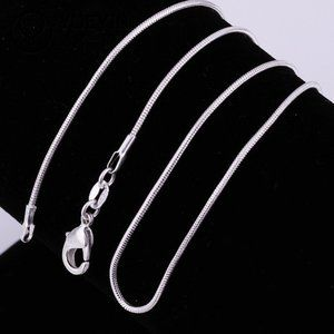 NEW 925 Sterling Silver Snake Chain Necklace